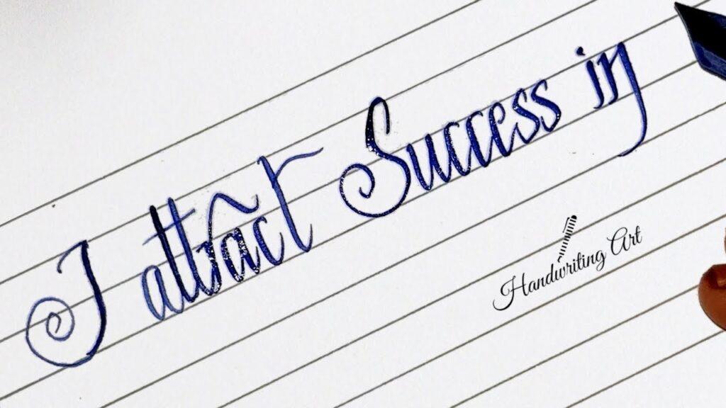 write with beautiful handwriting